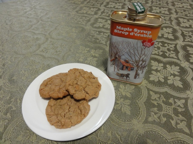 Maple walnut cookies and the real thing