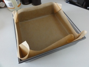 8x8 lined baking pan
