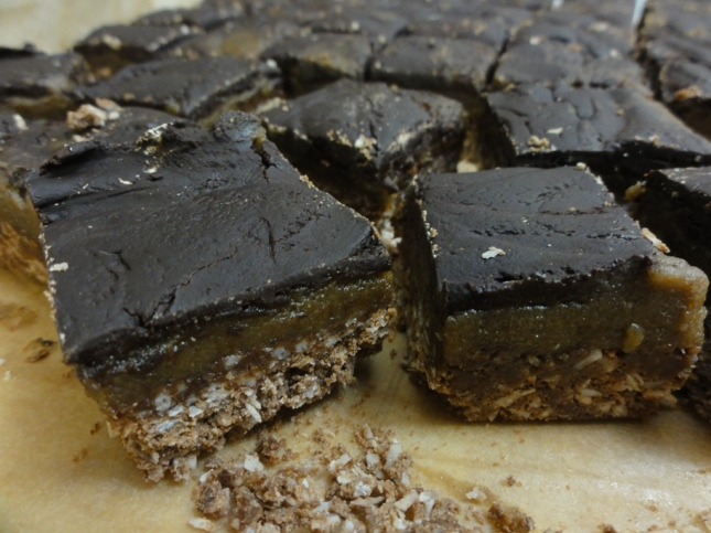 Close-up on Nanaimo Bars