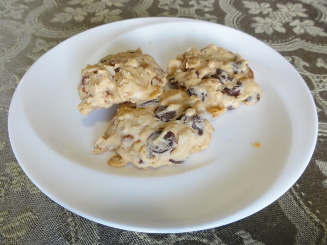 Oat chocolate chip cookies