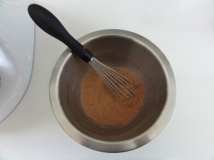 Dry ingredients mixed