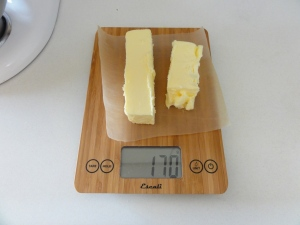 3/4 cup of butter by weight