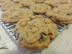Close-up of salted caramel chocolate chip cookies