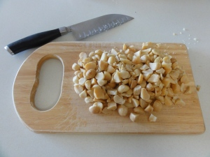 Chopped macadamia nuts