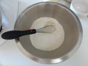 Pre-mixing dry ingredients