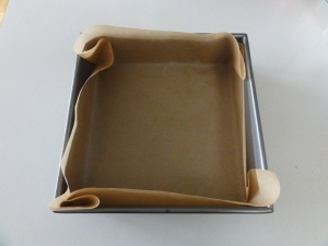 Lined 8x8 pan