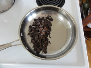 Melting chocolate in coconut oil