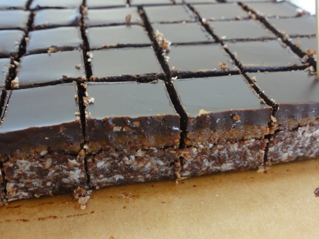 Vegan maple nanaimo bars