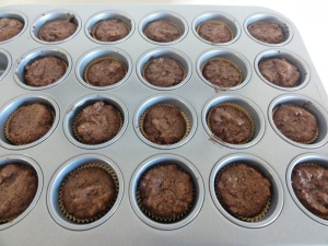 Baked mini muffins