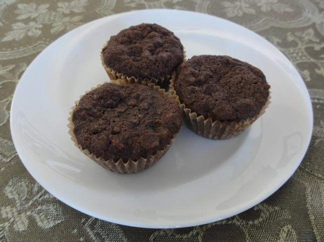 Cafe mocha mini muffins on a plate