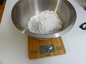 450g flour