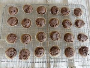 Baked mini-brownies
