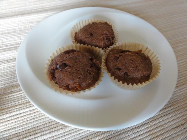 Banana chocolate chip mini brownies