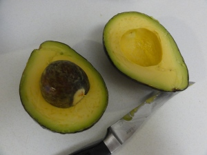 Split avocado