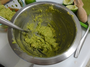 Mashed avocado