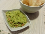 Guacamole served with chips