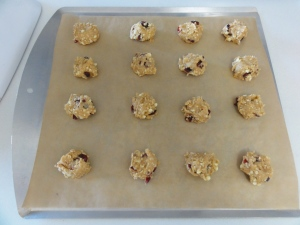 Morning-on-the-go cookie dough on a cookie sheet