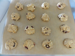 Morning-on-the-go cookies on a cookie sheet