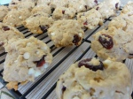 Morning-on-the-go cookies on a cooling rack