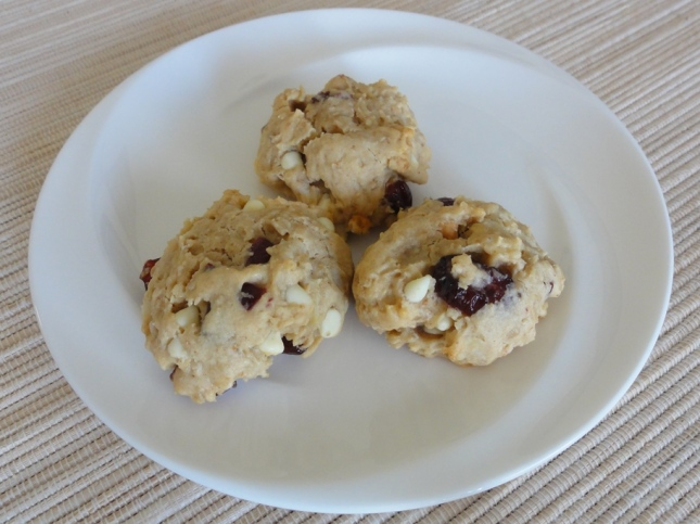 Morning-on-the-go cookies on a plate