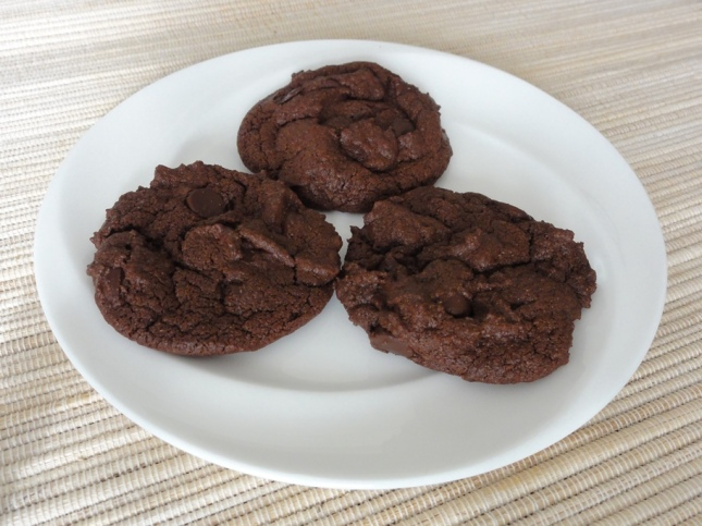 Mint chocolate chip cookies on a plate