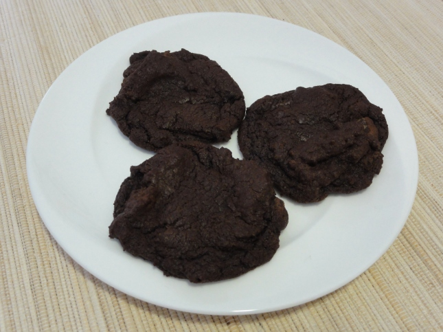 Chocolate chili cookies on a plate